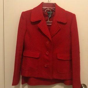 Rafaella Classic 2pc Red Skirt Suit